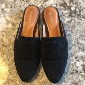 3ecd31a8aec8 Halogen Shoes | Violet Mule In Black Suede | Poshmark